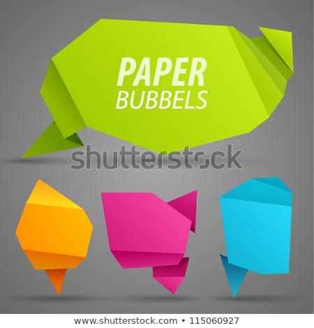 Vacío gris chat origami banner diseno Foto stock © SArts