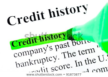 'Credit history' highlighted in green Stock photo © ivelin