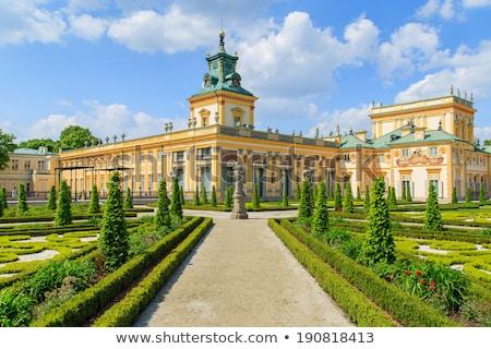 Paleis Warschau Polen panorama park retro Stockfoto © neirfy