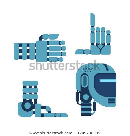 Cyborg zestaw części ciała robot głowie strony Zdjęcia stock © MaryValery