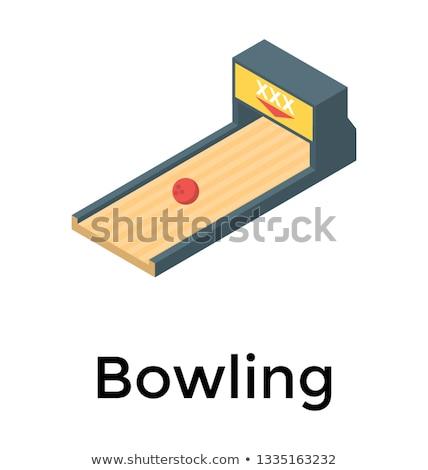 Izometrik örnek dizayn iç bowling Stok fotoğraf © artisticco