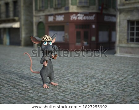 Cartoon · sonriendo · salvavidas · ratón · sombrero · animales - foto stock © cthoman