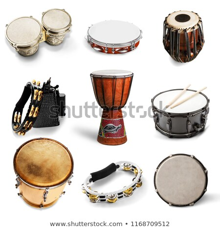 variety of different music instruments and playing equipment layout modern vector background illust stock photo © linetale