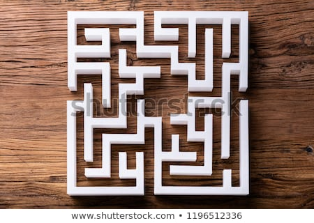 Overhead View Of Abstract White Maze Stock photo © AndreyPopov