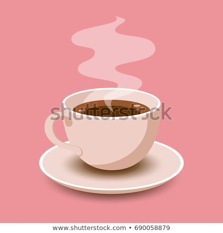Coffee Cup Beverage Poster Vector Illustration Stock photo © robuart