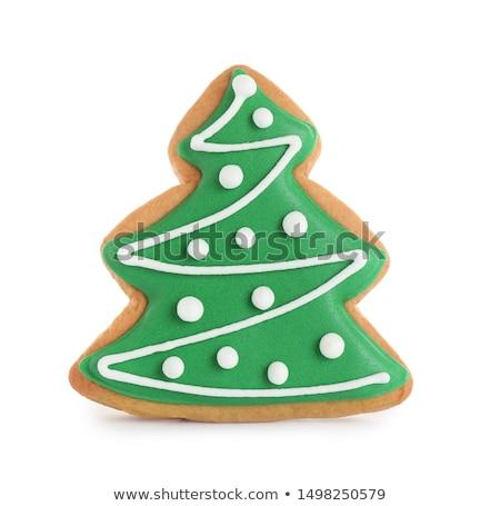 Taze lezzetli Noel zencefilli çörek kurabiye beyaz Stok fotoğraf © dash
