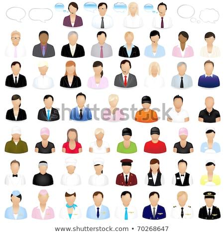 Piloot avatar mensen icon cartoon persoon Stockfoto © Krisdog