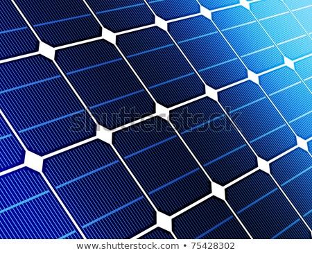 Solaire batterie cellule extérieur recyclage Photo stock © dolgachov