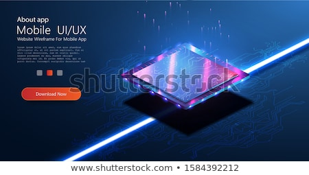 Microchip Processor Lights Header Stock photo © limbi007