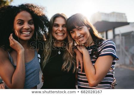 quatro · jovem · bom · menina · amigo · pessoas - foto stock © lopolo