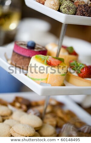 Delicious little cakes and pies Stock photo © BarbaraNeveu