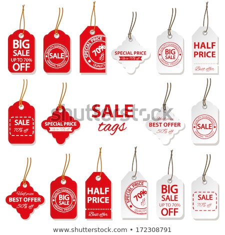 shopping signs with info about sales price tags stock photo © robuart