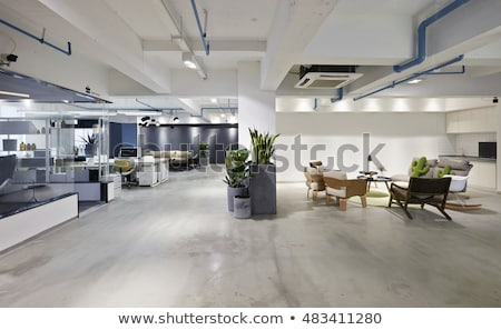 Kantoor werkplek tabel lamp comfortabel stoel Stockfoto © robuart