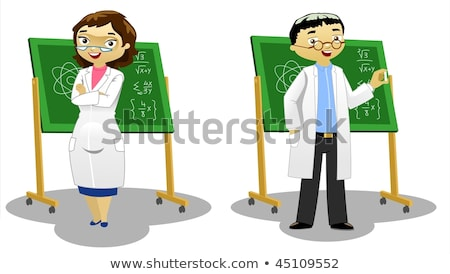 chemist man experiment icon vector Stock photo © blaskorizov