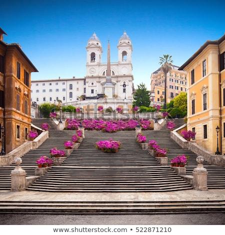 Espanhol passos manhã Roma Itália céu Foto stock © hsfelix