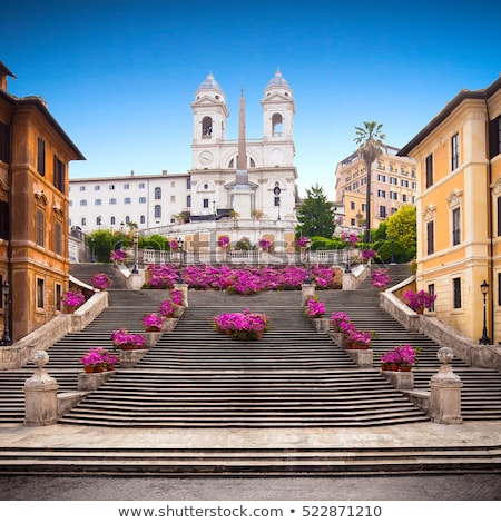 испанский · лестницы · Церкви · Рим · Восход · облака - Сток-фото © hsfelix