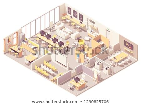 vector isometric office copy room stock photo © tele52