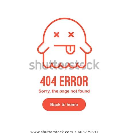 404 · erro · página · não · fantasma · desenho · animado - foto stock © Natali_Brill