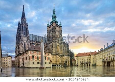 Praga antigo nascer do sol cidade rua Foto stock © Givaga