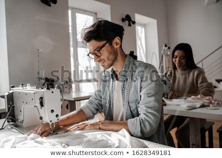Two tailors in their studio Stock photo © Kzenon