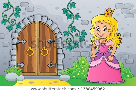 princess by old door theme image 1 stock photo © clairev