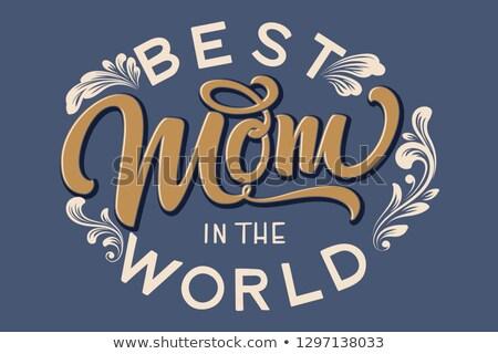 En iyi anne dünya kartpostal bahar Stok fotoğraf © Anna_leni