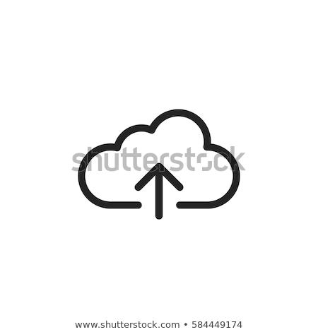 Felhő feltöltés ikon vékony vonal terv Stock fotó © angelp