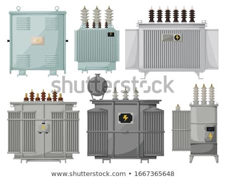 Elektryczne transformator wektora sylwetka mały technologii Zdjęcia stock © 5xinc