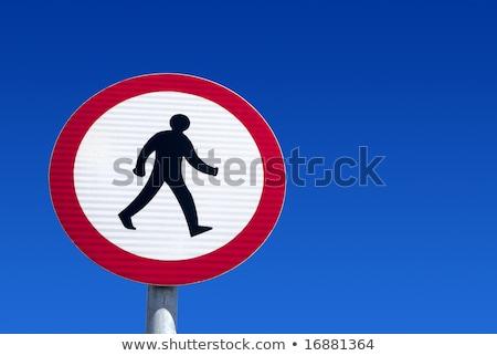 British no pedestrians road sign. Stock photo © latent