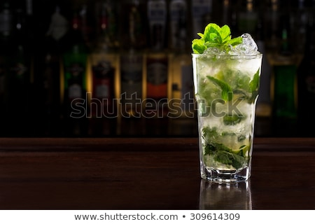 Mojito cocktail bar tabel luxe vakantie Stockfoto © dashapetrenko