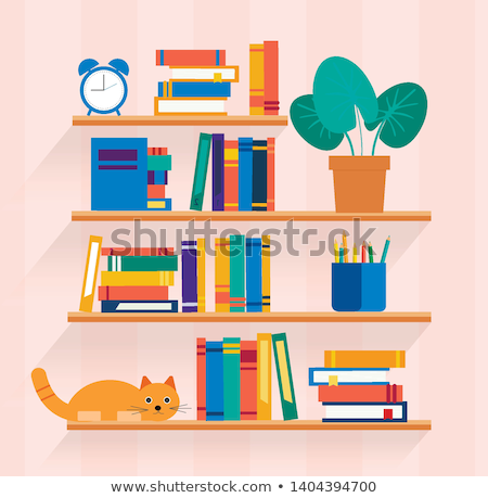 vector set of bookshelf stock photo © olllikeballoon