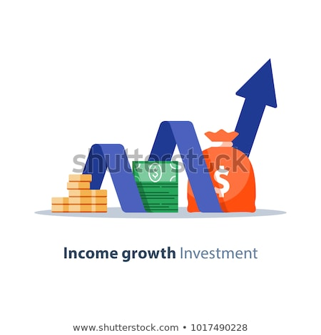 Icon of income growth chart or financial report graph Stock photo © ussr