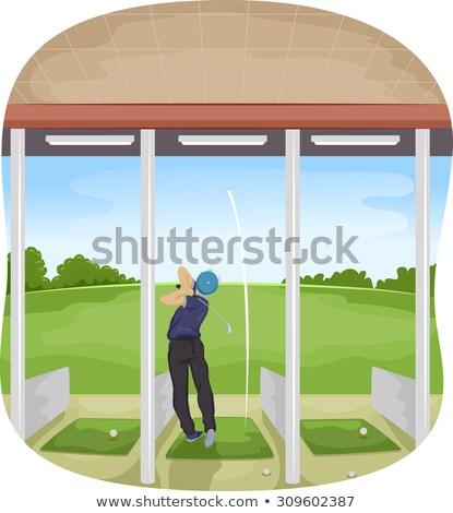 Homem golfe condução alcance ilustração par Foto stock © lenm