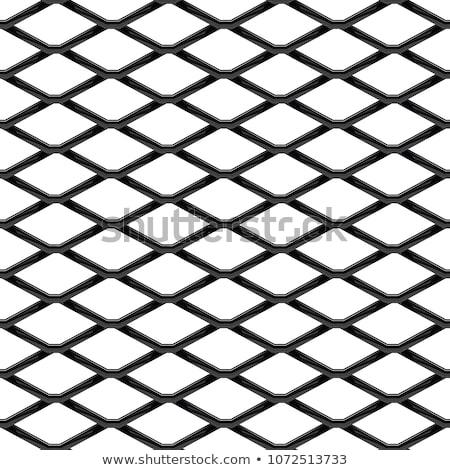 wire mesh steel metal on white background vector illustration stock photo © olehsvetiukha