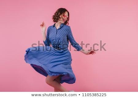 Blue clothing girl_emotion Stock photo © toyotoyo