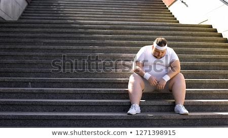 törik · box · gyűrű · fáradt · szőke · nő · sportoló - stock fotó © pressmaster