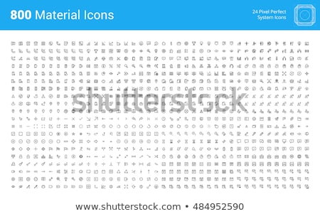 Internet marketing and social network icons set for website and mobile site and apps. Contains such  Stock photo © makyzz