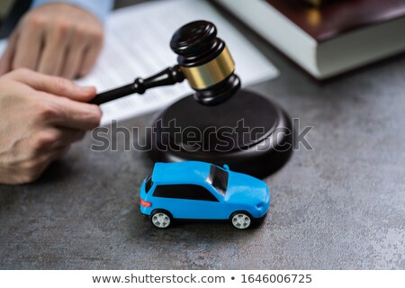 автомобилей судья небольшой красный Сток-фото © AndreyPopov