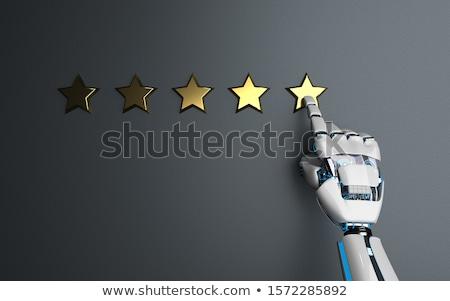 Humanoid Robot Golden Stars Rating Stock photo © limbi007