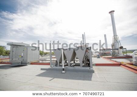 ar · condicionado · equipamento · edifício · moderno · ver · telhado - foto stock © lopolo