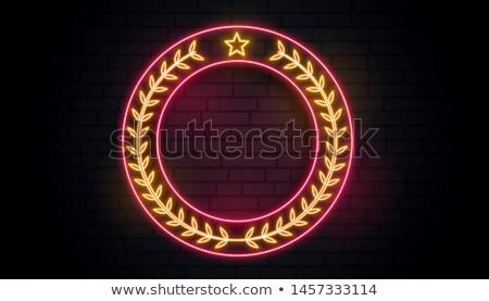 neon laurel wreath sign background Stock photo © SArts