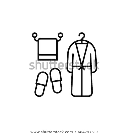 Spa халат икона цвета лестнице дизайна Сток-фото © angelp