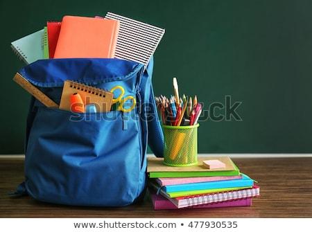 Снова в школу рюкзак правителя детей Сток-фото © robuart