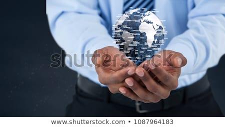 Homem de negócios globo composição digital natureza luz Foto stock © wavebreak_media