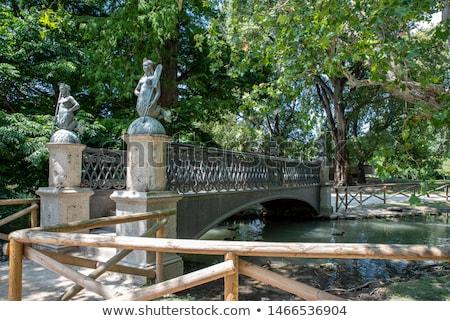 Ponte sereia estátua parque milan Itália Foto stock © boggy