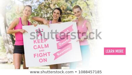 női · önkéntesek · mellrák · tudatosság · portré · park - stock fotó © wavebreak_media
