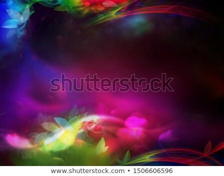 Resumen colorido flores luz diseno color Foto stock © exile7