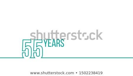лет летию рождения линейный графика Сток-фото © kyryloff