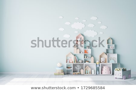 kid toddler playing  wooden toys at home or nursery Stock photo © Lopolo