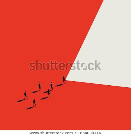 Affaires ambition affaires femme commencer escalade Photo stock © RAStudio